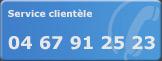 Le service clientèle 04 67 91 27 23